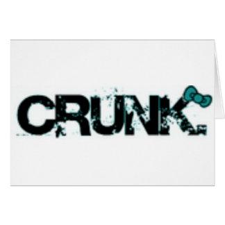 crunk1 greeting card