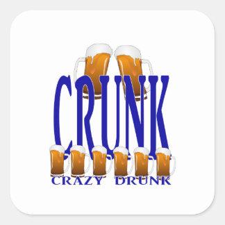 CRUNK - Crazy Drunk Square Sticker