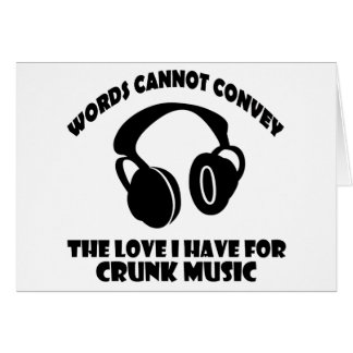 Crunk Music designs Greeting Card