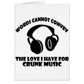 Crunk Music designs Greeting Card