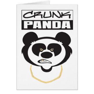 Crunk Panda Greeting Card