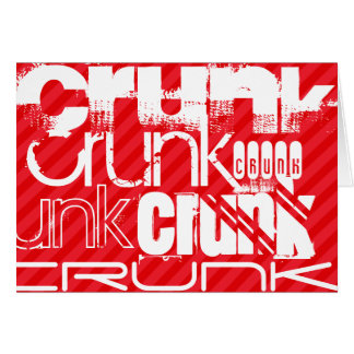 Crunk; Scarlet Red Stripes Note Card