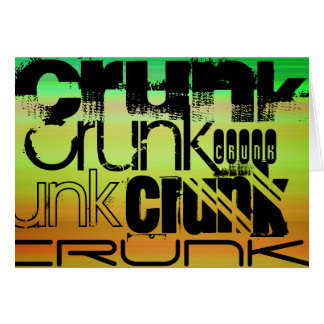 Crunk; Vibrant Green, Orange, & Yellow Note Card