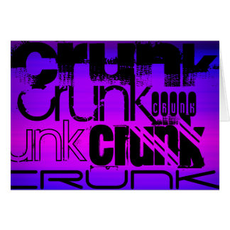 Crunk; Vibrant Violet Blue and Magenta Note Card