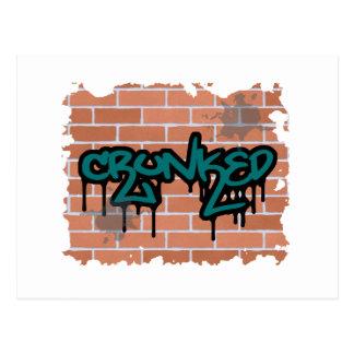 crunked graffiti  design postcard