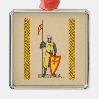 Crusader Knight, Early 13th Century Christmas Ornament