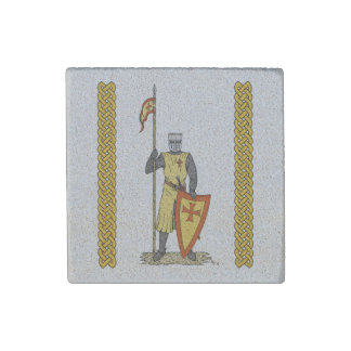 Crusader Knight, Early 13th Century Stone Magnet