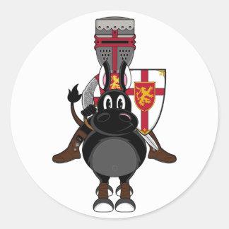 Crusader Knight Sticker