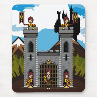 Crusader Knights and Castle Mousepad