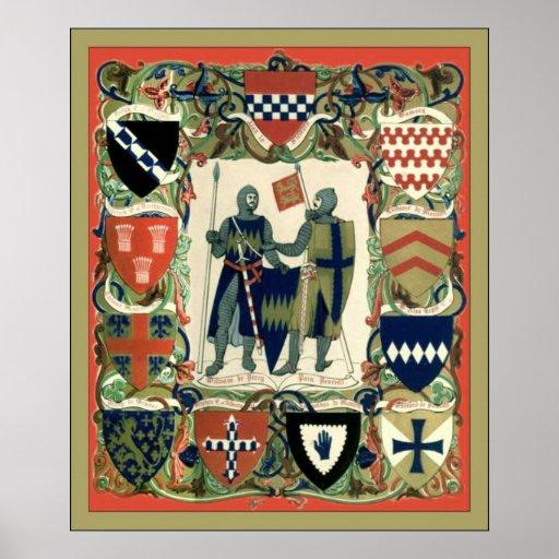 Crusader Knights Poster