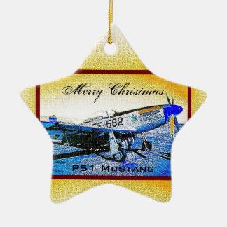 """Crusader"" P51 Mustang © 2009 S.J. Christmas Ornament"