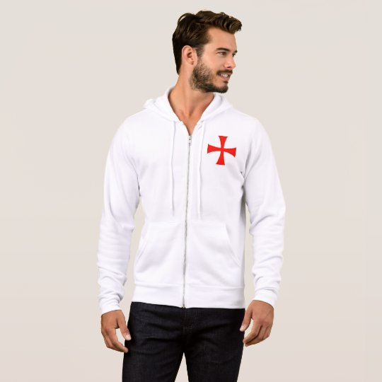 Crusader zip up hoodie small cross