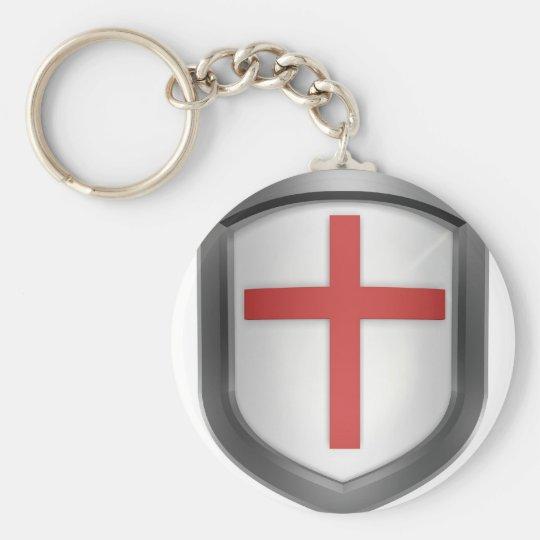 Crusaders Basic Round Button Key Ring