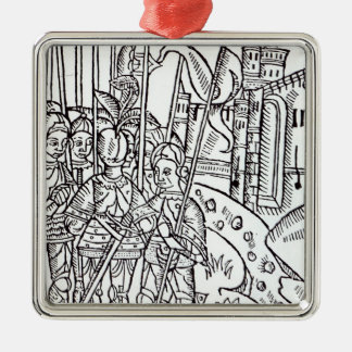 Crusaders, printed by Wynkyn de Worde Christmas Ornament