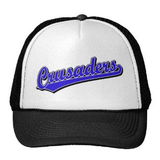 Crusaders script logo in Blue Cap