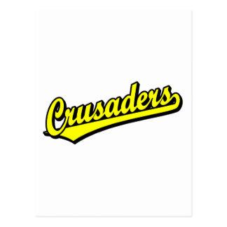Crusaders script logo in Yellow Postcard