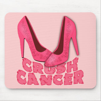 Crush Cancer with Stilettos Mouse Pad
