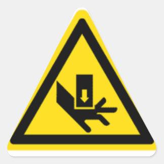 Crush Hazard Warning Triangle Sticker