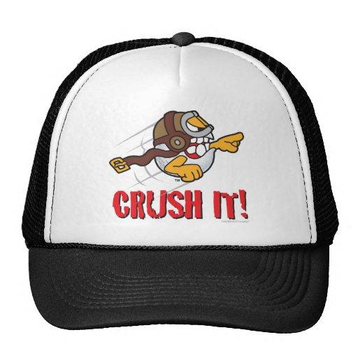 Crush it! Long drive golf ball Mesh Hat