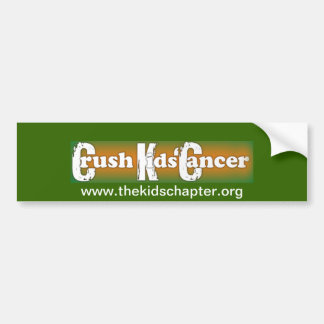 """Crush Kids Cancer"" Bumper Sticker"