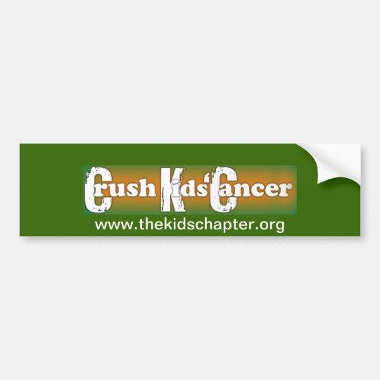 """""""Crush Kids Cancer"""" Bumper Sticker"""