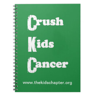 """Crush Kids Cancer"" Green Notebook"
