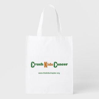Crush Kids Cancer Grocery Bag