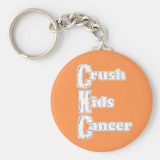 """Crush Kids Cancer"" Orange Keychain"
