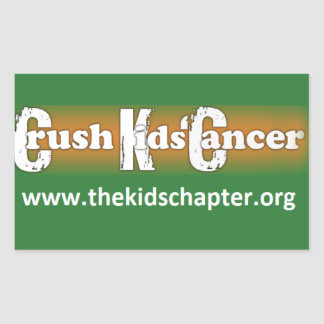 """Crush Kids' Cancer: The Kids' Chapter"" Stickers"