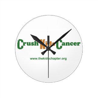 Crush Kids Cancer Wall Clock