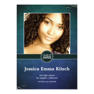 Crushed Peacock Double-Sided Graduation Card 13 Cm X 18 Cm Invitation Card