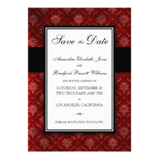 Crushed Red Velvet Save the Date Announcement 5x7