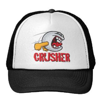 Crusher Cartoon Golf Ball For A Long Ball Hitter Hats