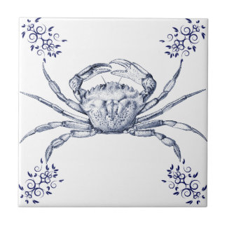 Crustaceans Ceramics ~ Green Crab Tile