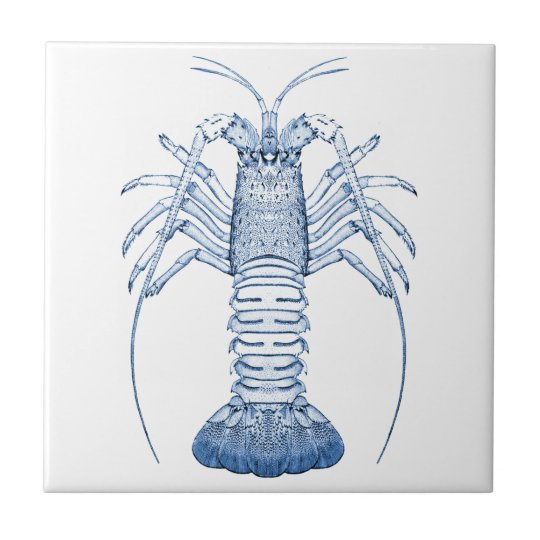 Crustaceans Ceramics ~ Rock Lobster Tile