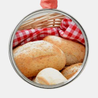 Crusty bread rolls christmas ornament