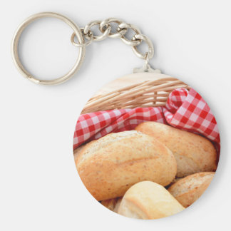 Crusty bread rolls key ring