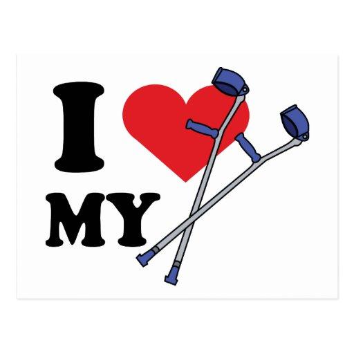 Crutch Love Postcard