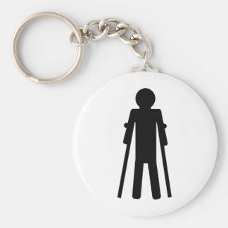 crutches man key chains