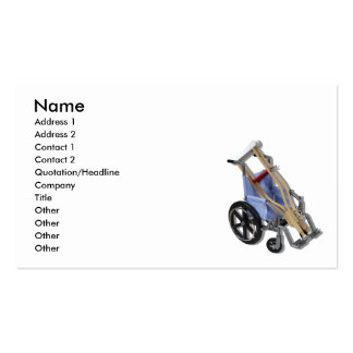 CrutchesWheelchair081210, Name, Address 1, Addr... Double-Sided Standard Business Cards (Pack Of 100)