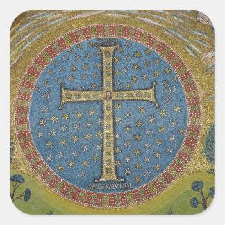 Crux gemmata square sticker