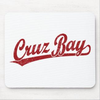 Cruz Bay script logo in red Mouse Pad