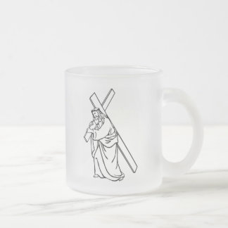 cruz-jesus coffee mugs