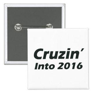 Cruzin' into 2016 - Black and White 2 Inch Square Button