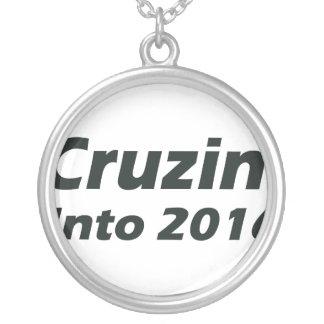 Cruzin' into 2016 - Black and White Round Pendant Necklace