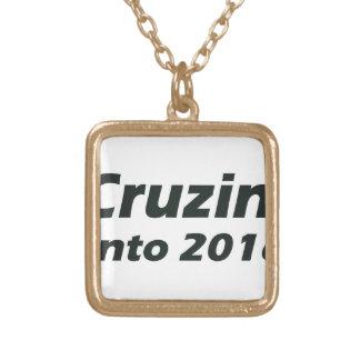 Cruzin' into 2016 - Black and White Square Pendant Necklace