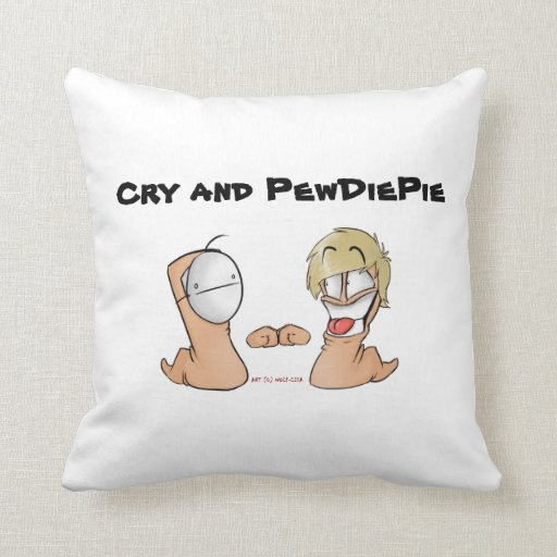 Cry And PewdiePie Pillows
