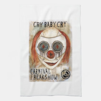 Cry Baby Clown Tea Towel