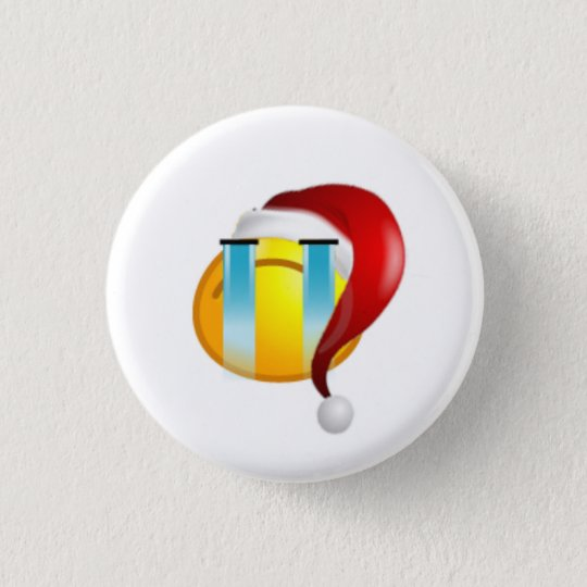 cry christmas face funny 3 cm round badge
