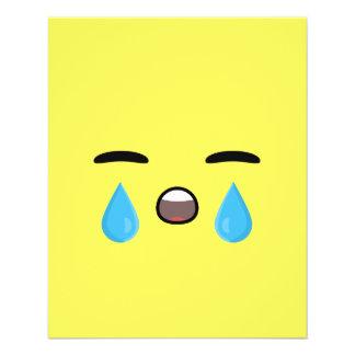 Cry Emoji 11.5 Cm X 14 Cm Flyer